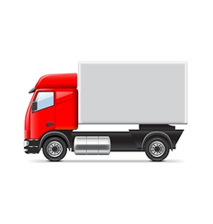 Red and white truck isolated vector image