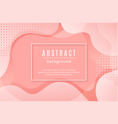 Abstract background with pink fluid shapes vector
