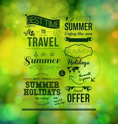 Abstract summer poster Soft bokeh background vector image