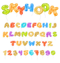 alphabet abc balloon kids alphabetical font vector image