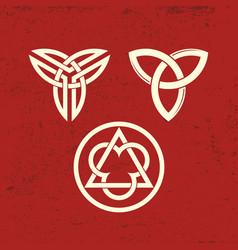 Ancient christian symbols of the trinity vector