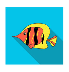 Angel fish icon in flat style isolated on white vector