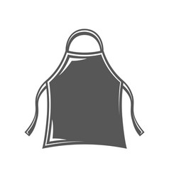 apron isolated on white background vector image