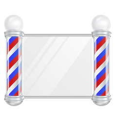 Barber shop pole old fashioned vintage vector