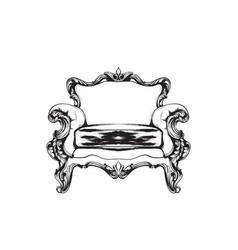 baroque armchair royal style decotations vector image