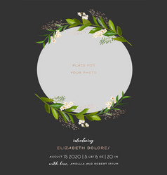 bashower greeting card with floral frame vector image