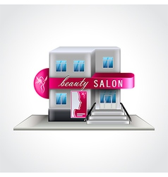 Beauty salon building isolated vector