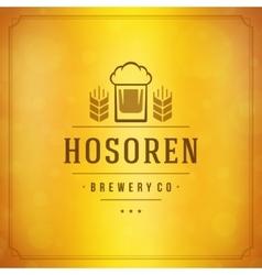 Beer logo design element vector