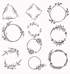 big collection frames from flourishes vector image
