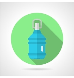 Bottled water flat round icon vector image