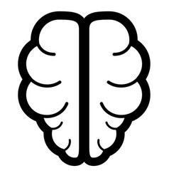 brain the black color icon vector image