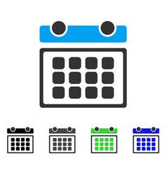 Calendar month flat icon vector