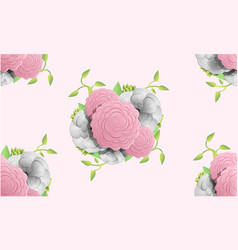 Camellia flower pattern cartoon style vector