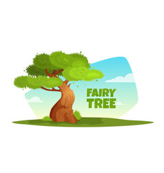 cartoon a tree in the vector image