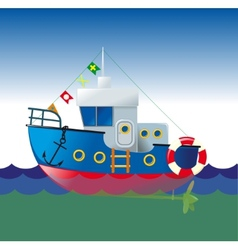 Cartoon boat vector