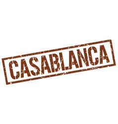 Casablanca brown square stamp vector