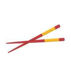 chopstick japanese icon isolated on white vector image