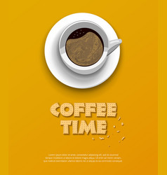 Coffee time concept design background vector
