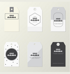 Collection modern paper label on gray vector