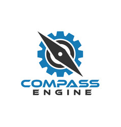 compass engine graphic design template vector image