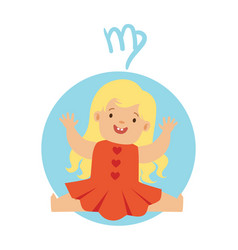 cute little boy as virgo astrological sign vector image