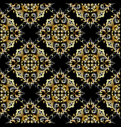 damask vintage seamless pattern decorative vector image
