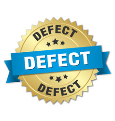 defect round isolated gold badge vector image