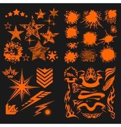 Design elements on black background - big vector