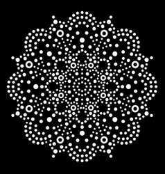 Dot art mandala aboriginal pattern vector