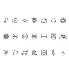 Ecology Line Icons Set vector