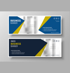 elegant business banners in geometric style vector image