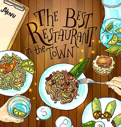 estaurant food vector image