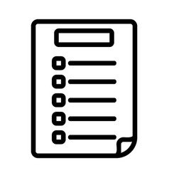 Exam paper icon in line style for any projects vector