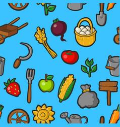 Farming seamless pattern vector