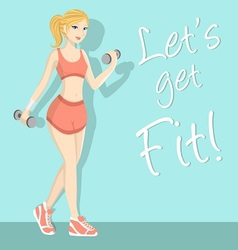 fitness girl 1 vector image