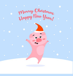funny on winter background vector image