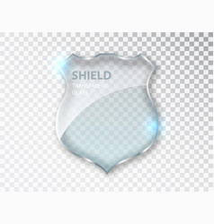 Glass shield sign safety badge protection icon vector