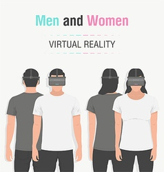 Glasses of virtual reality vector