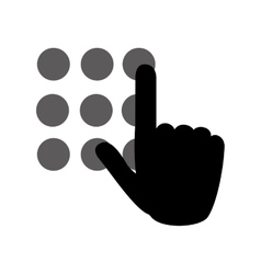hand typing password vector image