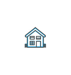 house icon design essential icon vector image
