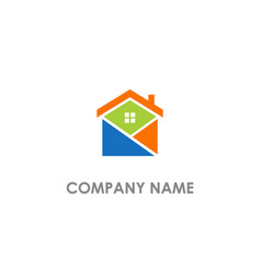 house realty architect colored logo vector image