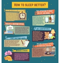 How to sleep better infographics vector