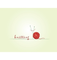 knitted snail vector image