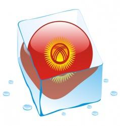 Kyrgyzstan flag vector image