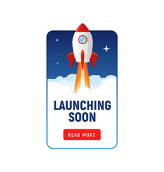 Launching soon marketing store template coming vector