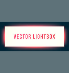 Lightbox sign box mockup illuminated signage vector