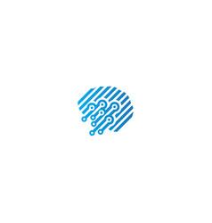 Line technology connection logo vector