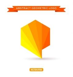 logo design template - modern polygonal vector image