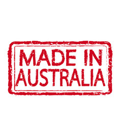 Made in australia stamp text vector