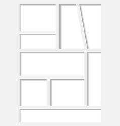 Manga set storyboard layout template a4 comic book vector